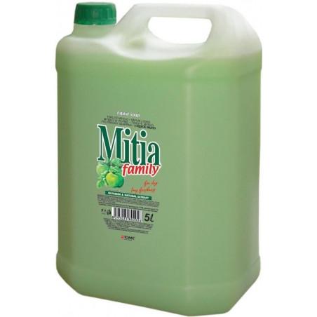 Mitia family, liquid soap,green apple 5L