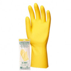 Latexové rukavice s bavlnenou výplňov