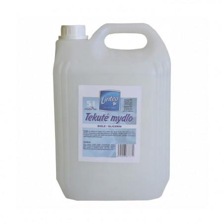 Linteo Tekuté mydlo, biele/glicerín 5L