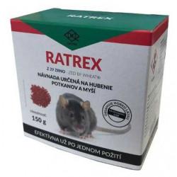 RATREX Otrava na myši 150g